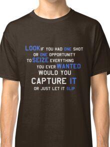 EMINEM MOTIVATIONNAL SHIRT WHITE&BLUE Classic T-Shirt