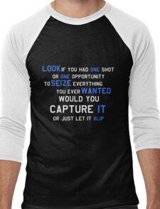 EMINEM MOTIVATIONNAL SHIRT WHITE&BLUE Men's Baseball ¾ T-Shirt