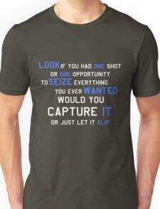 EMINEM MOTIVATIONNAL SHIRT WHITE&BLUE Unisex T-Shirt