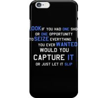 EMINEM MOTIVATIONNAL SHIRT WHITE&BLUE iPhone Case/Skin