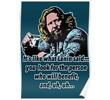 Big Lebowski Philosophy 4 Poster
