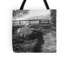 Dog on the Grass Tote Bag