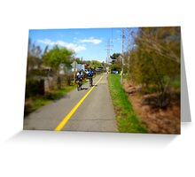 Bikers On A Trail Greeting Card