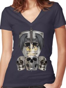 Metal Heads, Bikers and War - King and Lieutenants Women's Fitted V-Neck T-Shirt
