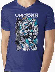 Unicorn Gundam T-Shirt Mens V-Neck T-Shirt
