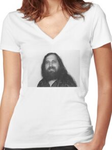 RMS Face of freedom Women's Fitted V-Neck T-Shirt