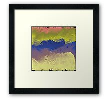 Vector Paint Abstract Art Framed Print