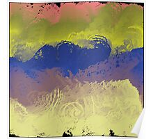 Vector Paint Abstract Art Poster