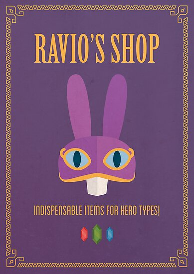 A Link Between Worlds: Ravio Poster by jindesign