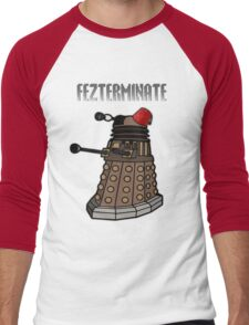 Dalek Fezterminate Men's Baseball ¾ T-Shirt