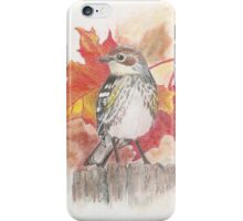 Yellow-Rumped Warbler iPhone Case/Skin