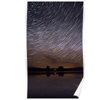 Dark Sky Star Trails Poster