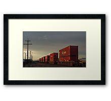 Dusk Train Framed Print