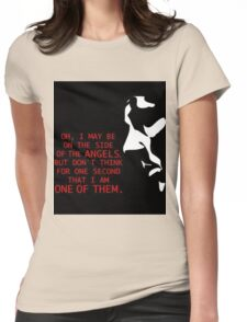 Sherlock's on the side of the Angels Womens Fitted T-Shirt