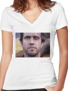 Mel's Black Eye Women's Fitted V-Neck T-Shirt