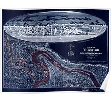 Civil War Maps 1901 View of Vicksburg and plan of the canal fortifications vicinity Inverted Poster