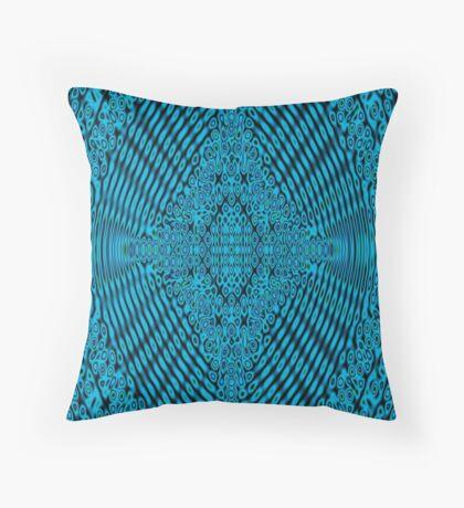 Blue Maple Korean  Throw Pillow