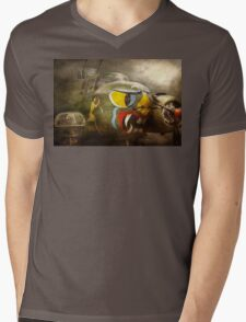 Plane - Pilot - Airforce - Dog Daize Mens V-Neck T-Shirt