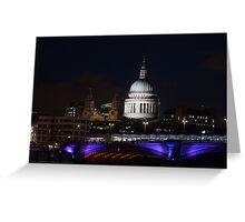 View of St. Pauls at Night Greeting Card