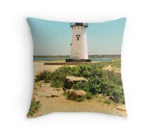 Edgartown Lighthouse, Martha's Vineyard Throw Pillow