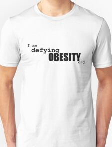 I am defying obesity (black print) T-Shirt