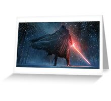 Kylo Ren Watercolor 2 Greeting Card