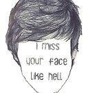 I miss your face like hell (empty face) by shoshgoodman