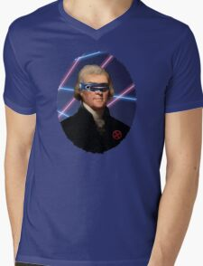 Cyclops + Thomas Jefferson Mash Up Mens V-Neck T-Shirt