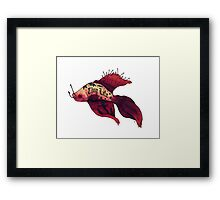 Born Fighter Framed Print
