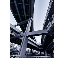 Abstract elevated highway interchange art photo print Photographic Print