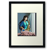 Afternoon's Last Notes Framed Print