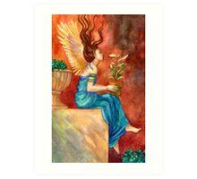 The Gardening Angel Art Print