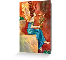 The Gardening Angel Greeting Card