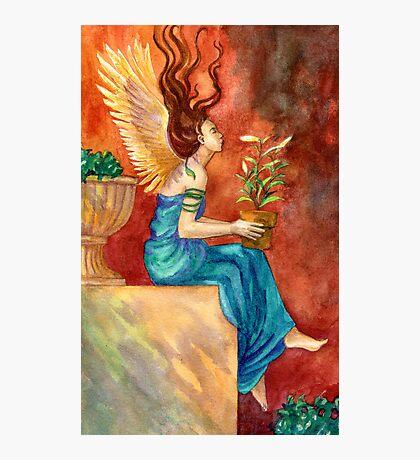 The Gardening Angel Photographic Print