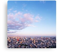 Tokyo city scenery under blue sky art photo print Canvas Print