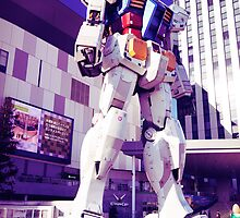Gundam statue at Diver City Odaiba Tokyo Japan art photo print by ArtNudePhotos