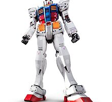 Gundam RX-78-2 statue isolated on white art photo print by ArtNudePhotos