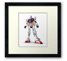 Gundam RX-78-2 statue isolated on white art photo print Framed Print