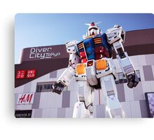 Gundam giant statue in Diver City Tokyo Japan art photo print Canvas Print