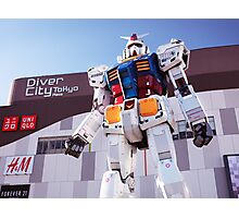 Gundam giant statue in Diver City Tokyo Japan art photo print Photographic Print