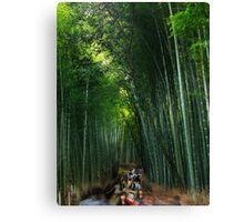 Arashiyama bamboo forest in Kyoto art photo print Canvas Print