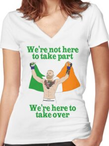 Conor McGregor MMA Women's Fitted V-Neck T-Shirt