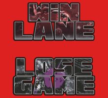 Win Lane, Lose Game - Please Like and Share Kids Clothes