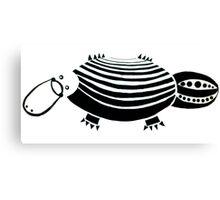 Geometric Duck-Billed Platypus Canvas Print