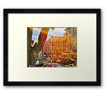 Columbus and Broadway Framed Print