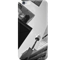 Abstract City Sky Scape Black & White iPhone Case/Skin