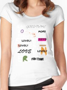 all abut words 3 Women's Fitted Scoop T-Shirt