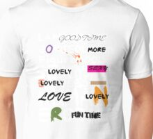 all abut words 3 Unisex T-Shirt