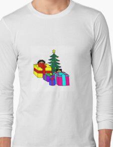 christmas peeking Long Sleeve T-Shirt