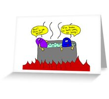 Hot tub Greeting Card